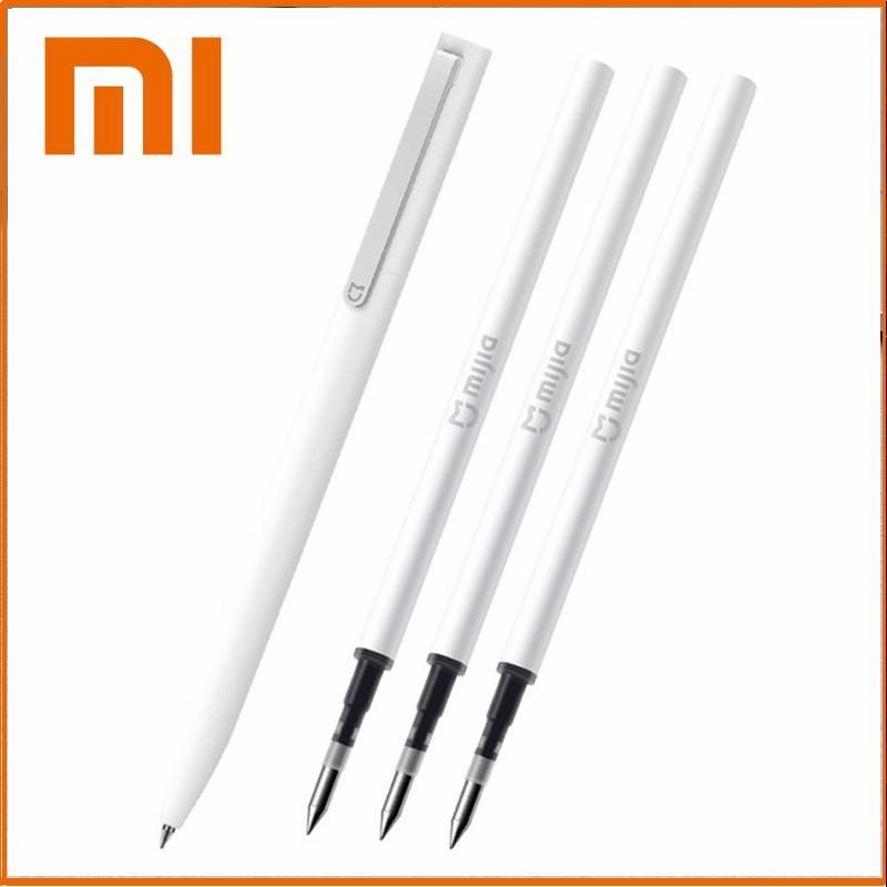Оригинальная ручка для подписи Xiaomi Mijia 9,5 мм, школьные принадлежности, гладкие швейцарские стержни, японские чернила для подписей Mijia, черная...
