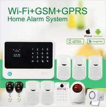 touch keypad Smart home alarm with App IOS&Android G90B Wifi GSM RFID keypad 7 FRID reading tag alarm system