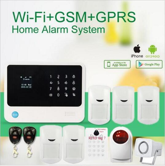 433mhz touch keypad Smart home alarm with App IOS&Android G90B Wifi GSM RFID keypad  FRID reading tag alarm system детская игрушка new wifi ios
