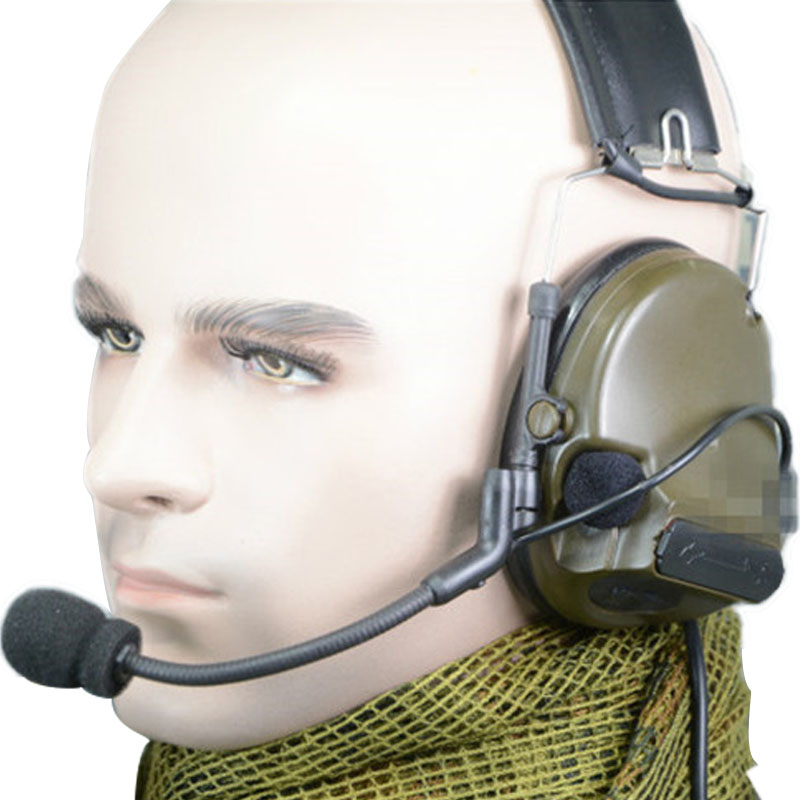 Tactical ComTac III New Model Single Comm Pickup Noise Reduction Headset for PRC 152 PRC 148