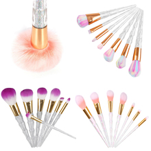 New Makeup 2017 Soft 7pcs Crystal Diamond Makeup Brushes Set Powder Foundation Eyeshadow Eyebrow Cosmetic Makeup Brushes Tools
