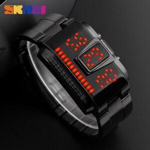 Image 5 - SKMEI moda kreatywny sport LED zegarki mężczyźni Top luksusowa marka 5ATM wodoodporny zegarek cyfrowe zegarki na rękę Relogio Masculino