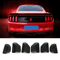 QHCP Acrylic 6Pcs Car Rear Tail Light Lamp Cover Protector Sticker Smoked Black Auto Accessories For Ford Mustang 2015 2016 2017