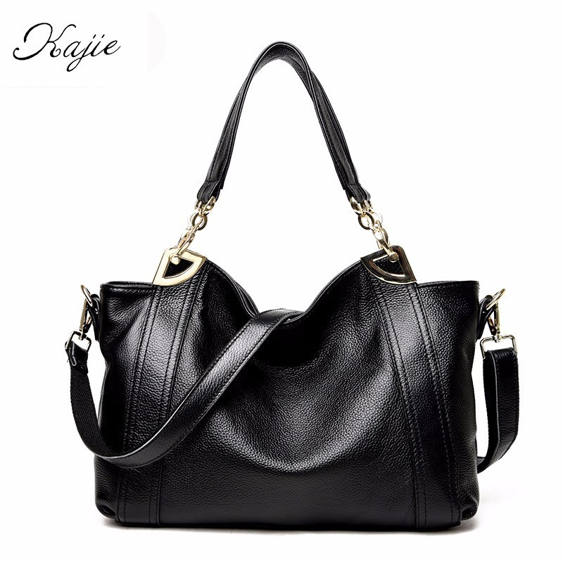 цена на 2018 Fashion Women Shoulder Bags High Quality Female Bag Large Capacity Genuine Leather Luxury Handbags Designer Ladies Bags