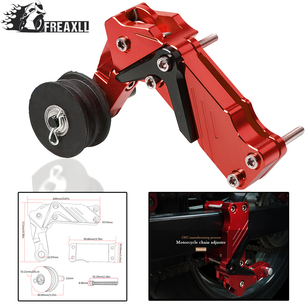 Motorcycle Chain Auto Tensioner CNC Aluminum Moto Chain Tensioner For Yamaha Ybr 125 Benelli Trk502 Trk502 Ktm Sx 125 Yz250f