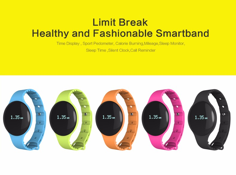 TK05 Bluetooth 4.0 Necklace Step Counter Sport Activity Fitness Tracker Smart Band Bracelet Wristband Better Than Fit Bit TW64 4
