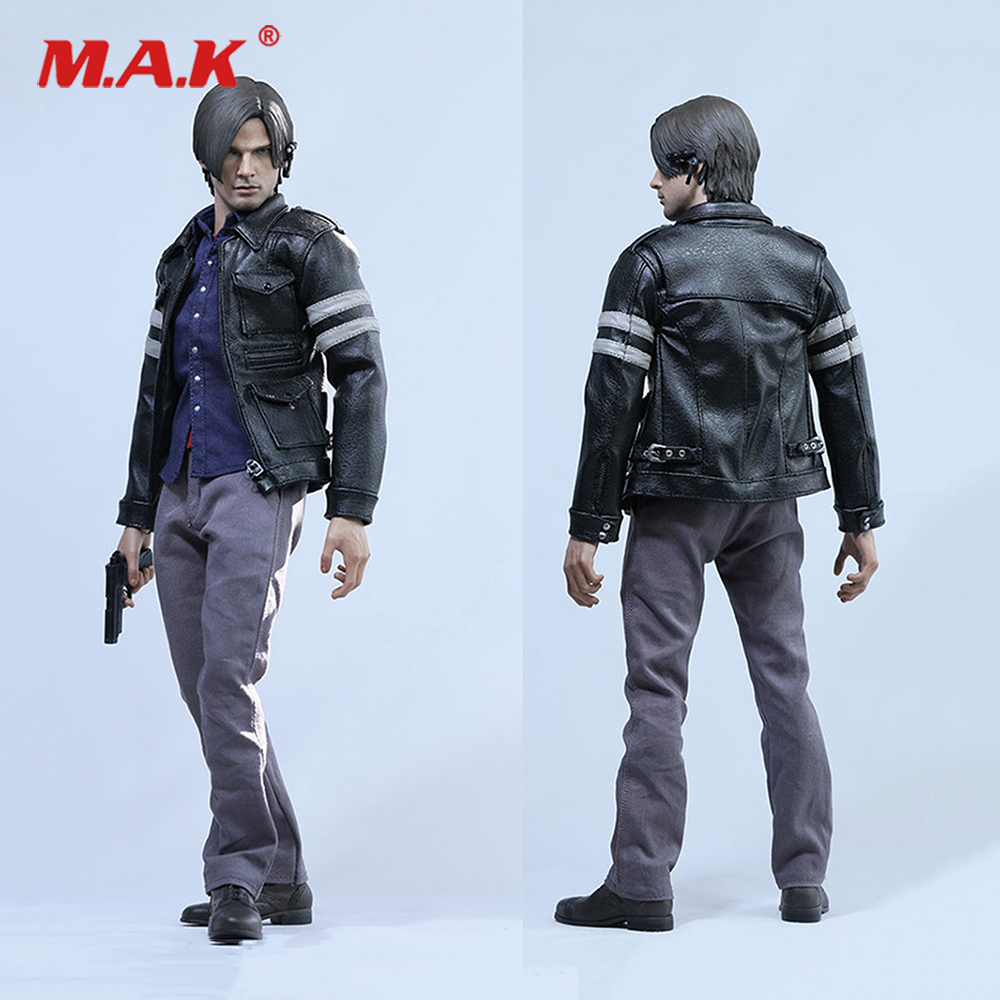 1 6 Resident Evil 6 Leon Scott Kennedy Cloth Leather Coat