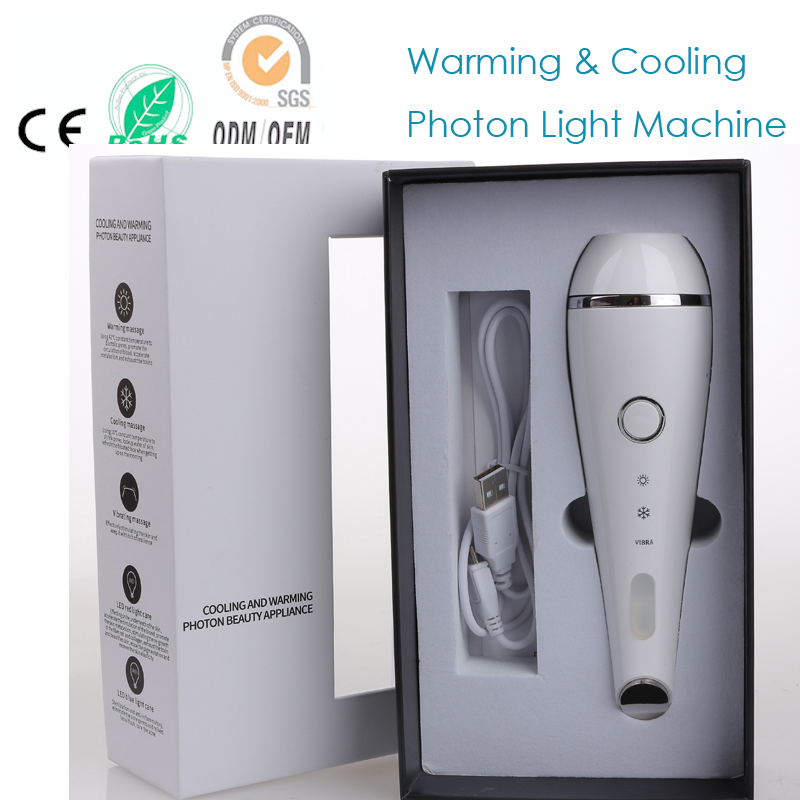 Sonic Vibration Warming And Cooling Beauty Appliance Face Eye Forehead Wrinkle Acne Removal Skin Lift Firming Smoothing Machine цена