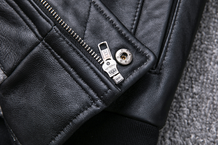 MAPLESTEED Thickening Quilted 100% Sheepskin Leather Jacket Men Air Force G1 Flight Jacket Man Winter Coat Collar Removable M176