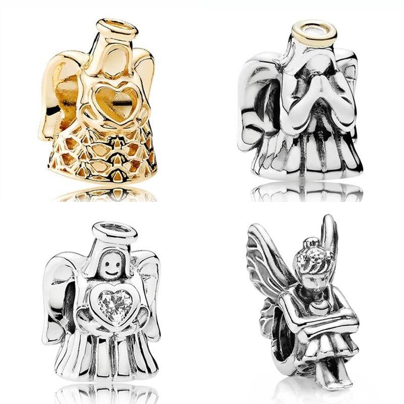 Gold Color Angel Of Love & Grace PETITE Beads Fairy Pixie Charm Fit Pandora Bracelet 925 ...