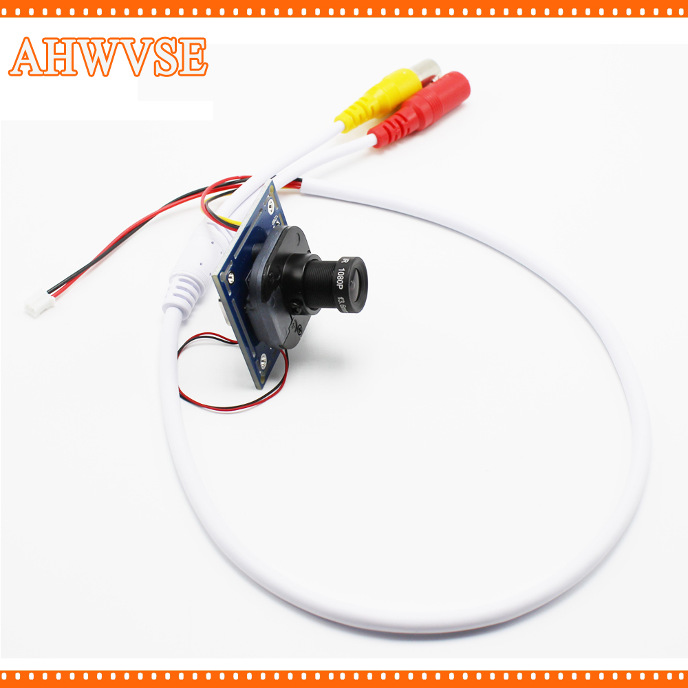 AHWVSE 8pcs/lot HD 1200TVL CCTV Analog Mini Camera module board with IR-CUT and BNC cable 3.6mm lens PAL/NTSC