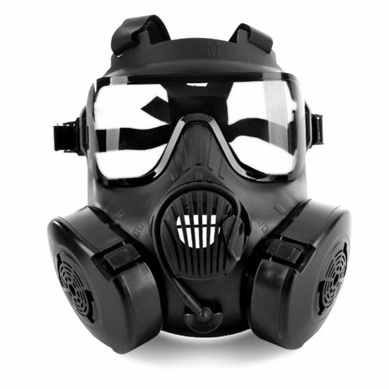 1 Pcs Cycling Face Mask Wide Vision Protective Tactical Airsoft Mask Adults Full Face CS Accessories With Fan For Camping|Cycling Face Mask| |  - title=