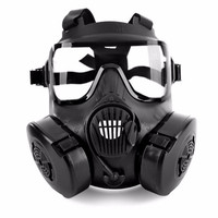 1 Pcs Cycling Face Mask Wide Vision Protective Tactical Airsoft Mask Adults Full Face CS Accessories With Fan For Camping