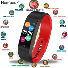 цена на Fitness Bracelet Heart Rate Monitor Blood Pressure Measurement Smart Band Sports Watch Wristband for Android iOS pk mi band 4