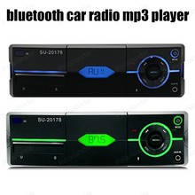 1 din FM Receiver Car Radio Stereo Audio In-dash Aux Input USB2.0 MP3 SD card Bluetooth player 12V