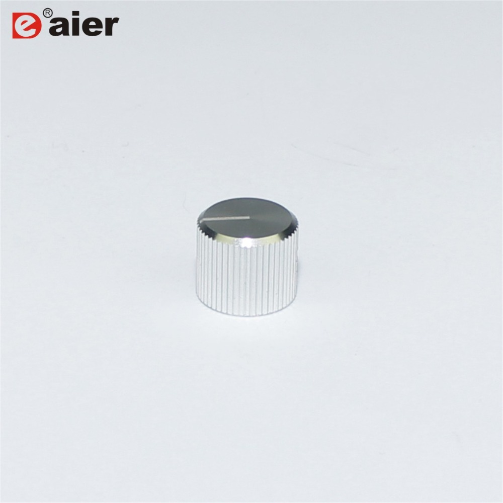 50PCS A 1512 Metal Type 6 35mm Diameter Shaft Black And Silver Color With Screw Insert