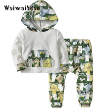 цена на Autumn New Kids Set  Long -Sleeved Hooded  Shirt + Pant 2PCS  Kids Clothes Sets Child Suit Toddler Clothes For Boys And Girls
