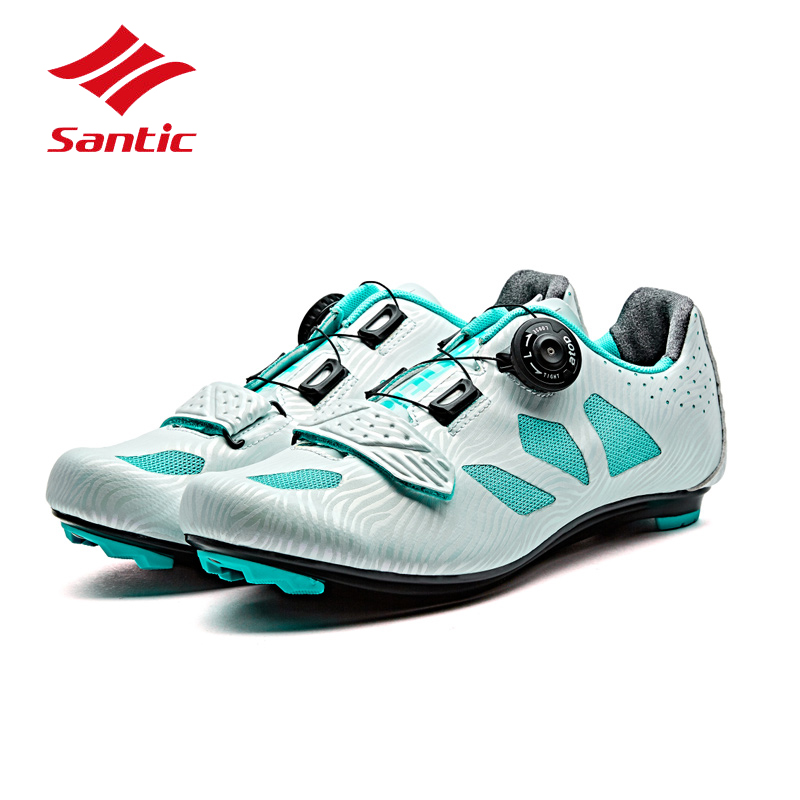 все цены на Santic Cycling Shoes Road Women 2018 Pro Bike Shoes Self-Locking Breathable Athletic Bicycle Shoes Sneakers Sapatilla Ciclismo онлайн