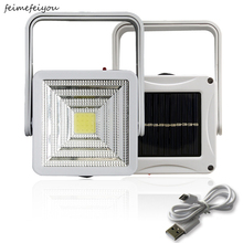 Super bright Square Portable Solar Lantern 4 Modes rechargeable Emergency LED Outdoor Camping Light black white