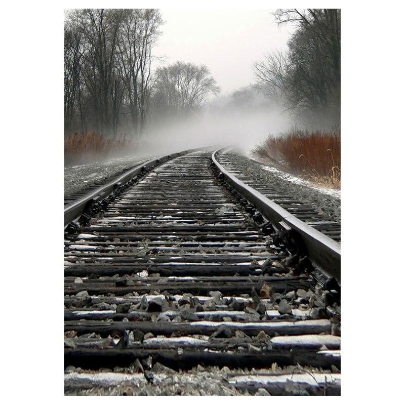 vinyl background baby photo studio photography backdrop children railway 5x7ft