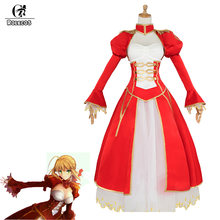ROLECOS jeu destin Grand ordre Cosplay Costume sabre Nero Claudius Costume rouge robe avec veste pour femmes Cosplay Costume robe(China)