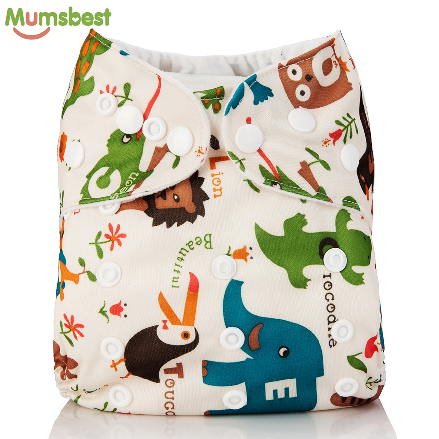 [Mumsbest] 2018 Washable Baby Cloth Diaper Cover Waterproof Cartoon Owl Baby Diapers Reusable Cloth Nappy Suit 0-2years 3-13kg