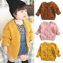 1-3 Years Old Baby Girl Sweater Child Winter Ball In Hand Do