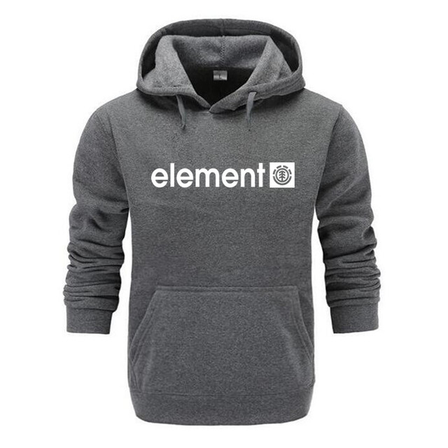New 2019 Autumn Winter Brand Mens Hoodies Sweatshirts Men High Quality ELEMENT Letter Printing Long Sleeve Fashion Mens Hoodie 1