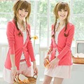 Lowest Price Wholesale Women Ladies Sweet Candy Color Long Sleeve Coat Cardigan Sweater