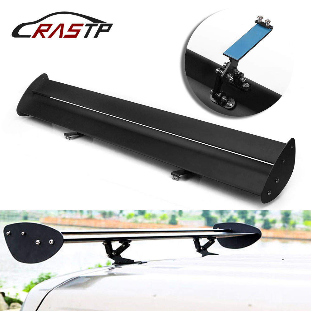 RASTP 43 3 Adjustable Aluminum Need Perforation Car Hatchback Spoiler GT Style Rear Trunk Wing Tail
