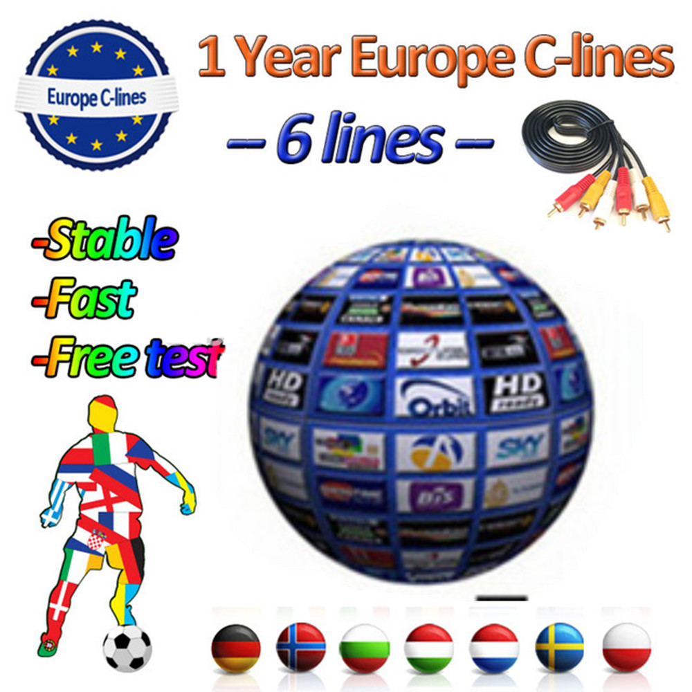 2019 stable Cccams 6/7lines 1 Year for Europe ccam Spain Portugal Germany Poland Italy satellite TV receiver-in Satellite TV Receiver from Consumer Electronics