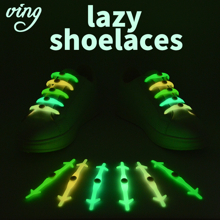 12pcs/Set VING Silicone Light Up Fashion  Luminous Shoelaces Flash Party Glowing Shoe Lace Shoestrings Lazy No Tie Shoeslace Hot