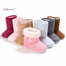 E&Bainel New Winter Super Warm Newborn Baby Girls First Walkers Shoes Infant Toddler Soft Rubber Soled Anti-slip Boots Booties