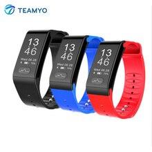 Teamyo T6 ЭКГ Smart Band Часы Приборы для измерения артериального давления fitnesstracker сердечного ритма Мониторы IP67 Водонепроницаемый смарт-браслет для iOS и Android