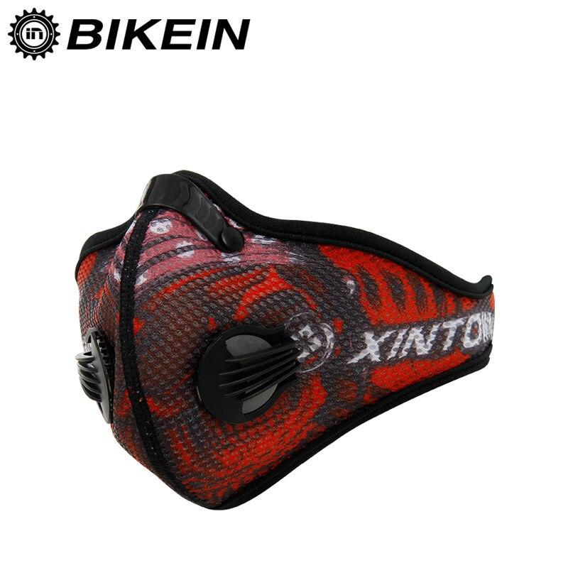 Prix pour BIKEIN-Anti-poussière Vélo Vélo Visage Masque avec du Charbon actif filtre Moitié Du Visage de Vélos formation masque 3 couleurs En Plein Air de SKI masque