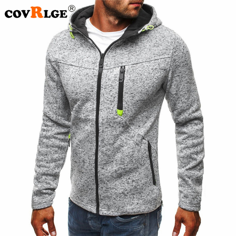 Covrlge Hoodies Men Fashion Personality Zipper Sweatshirt Male Solid Color Hoody Tracksuit Hip Hop Autumn Hoodies Mens MWW146