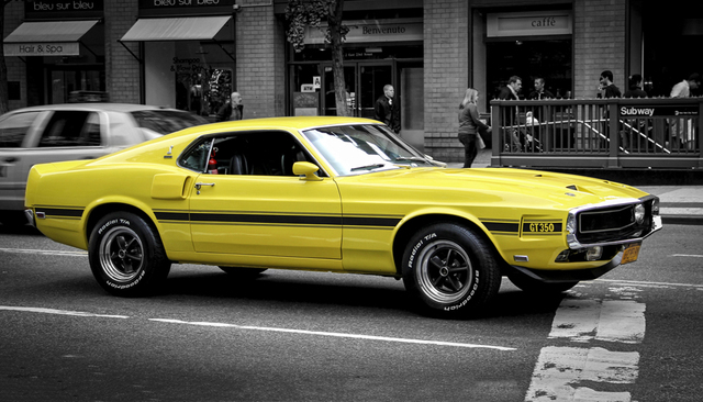 Musclecar Ford Mustang Gt New York Street Supercars Auto Poster High Quality Picture Print Home Decoration