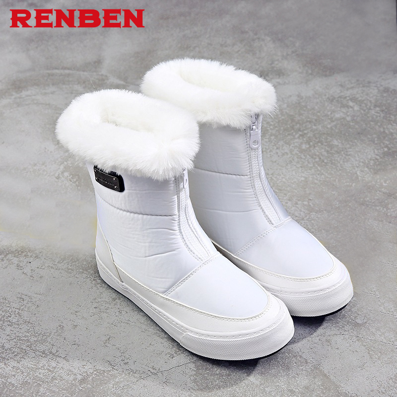 Winter Women Boots Mid-Calf Down Boots Female Waterproof Ladies Snow Boots Girls Winter Shoes Woman Plush Insole Botas Mujer ekoak new 2017 winter boots fashion women boots warm plush mid calf boots ladies platform shoes woman rubber leather snow boots