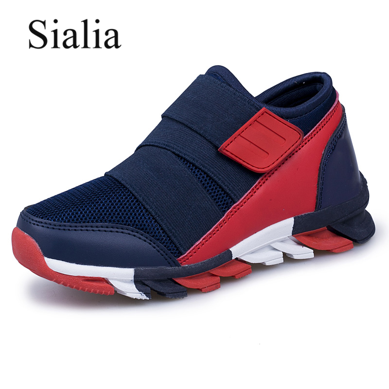 Sialia Sport Kids Sneakers For Boys Shoes Children Sneakers Girls Casual Shoes Breathable Mesh Running Trainer chaussure fille(China)