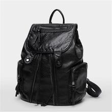 2016 новый овчины кожаный мешок рюкзак моды в рюкзаки для девочек mochilas escolares femininas adolescentes