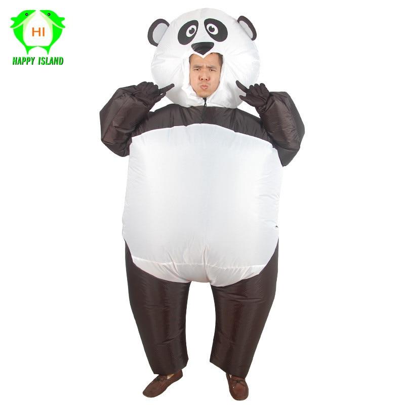 Забавный надувной костюм панды для взрослых животных на Хэллоуин, надувной костюм, рождественские новогодние костюмы для вечеринки