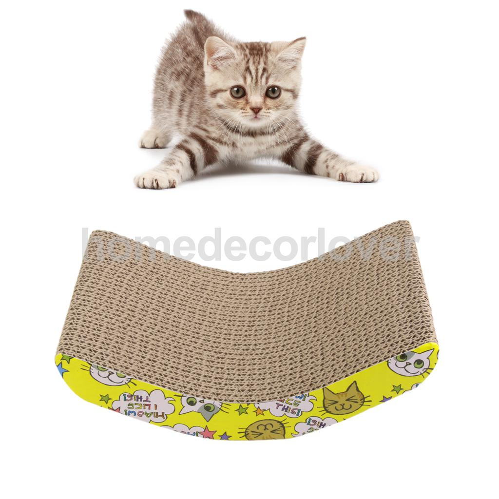 Corrugated Board Cat Scratcher Seize Scratch Pad Catnip Bed Funny Toy