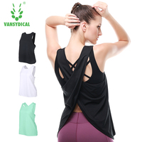 Vansydical Woman Vest Tank Vest For Women Top Shirts Fitness Clothing Singlet