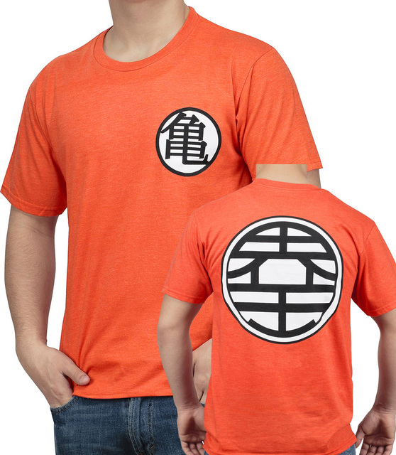 Dragon Ball DBZ Kame Symbol Goku men short sleeve tshirt industry Vegeta Goku turtle fairy king male Super Saiyan Monkey T-Shirt