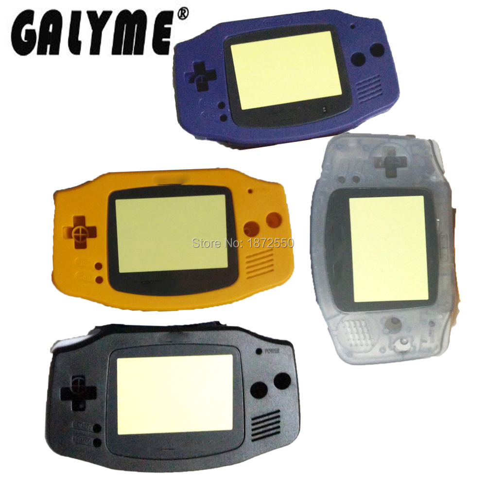 Galyme New DIY 4 Color Cartoon Lens Repair Housing Case Fit ForGBAGameboyAdvance Game Console Boy Plastic Cover With Sticker