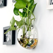 Garden Supplies Clear Hanging Glass Vase Wall Mounted Fish Tank Glass Ball Vase
