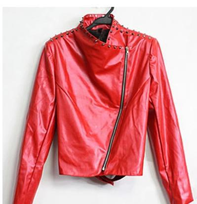 8c00bb2e58dac Black Oblique zipper Rivets punk Motorcycles pu faux leather jacket men  Singer 1 mens leather jackets and coats Customizable-in Faux Leather Coats  from ...