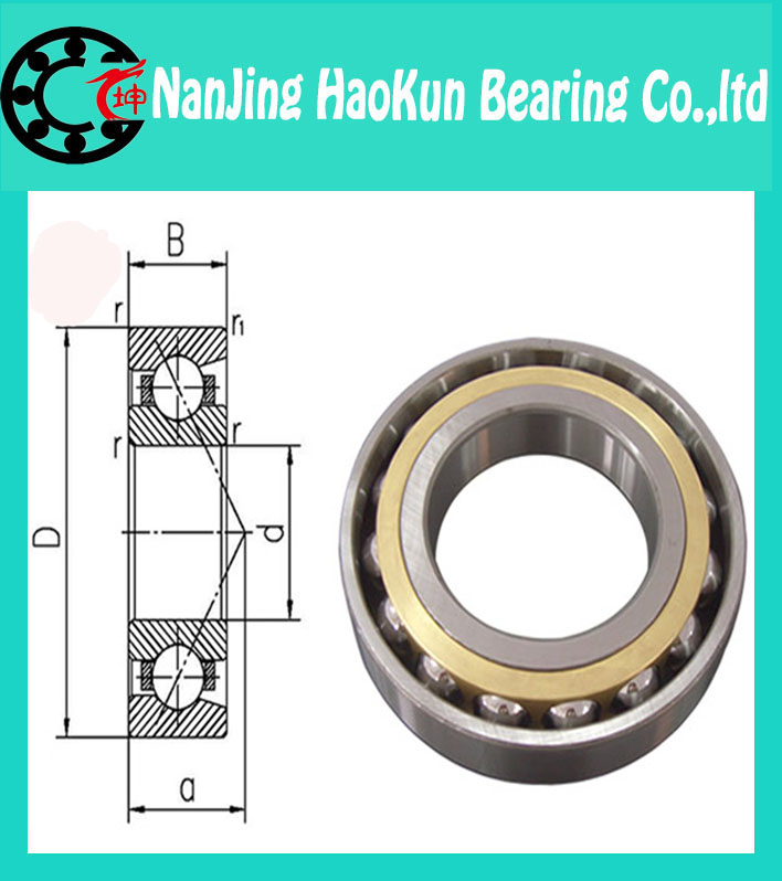 90mm diameter Angular contact ball bearings 7018 AC/P2 90mmX140mmX24mm,Contact angle 25,ABEC-9 Machine tool