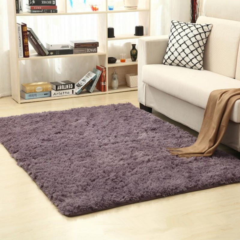 Living Room Carpet European Fluffy Mat Kids Room Rug Bedroom Mat Antiskid Soft Faux Fur Area Rug Rectangle Mats Home Supplies