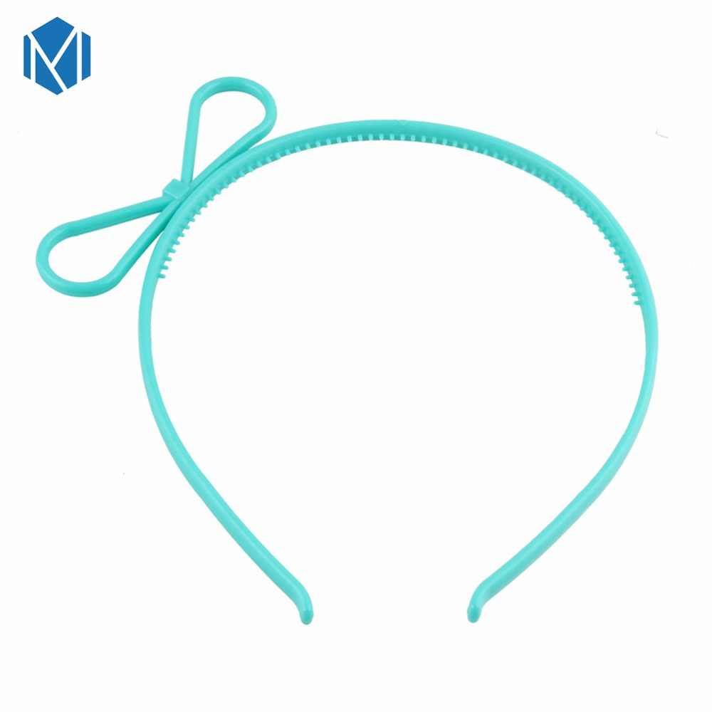 M MISM Детская повязка для волос милые аксессуары для волос для девочек Kawaii галстук-бабочка обруч для волос резинка для волос, принцессы пластиковая заколка для волос подарок на день рождения